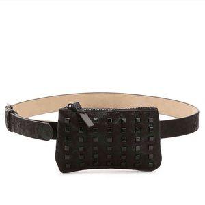 Steve Madden Black Studded Belt Bag